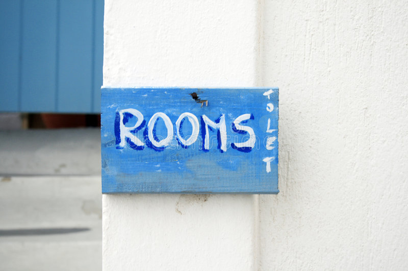 greece rooms to let sign 5040025